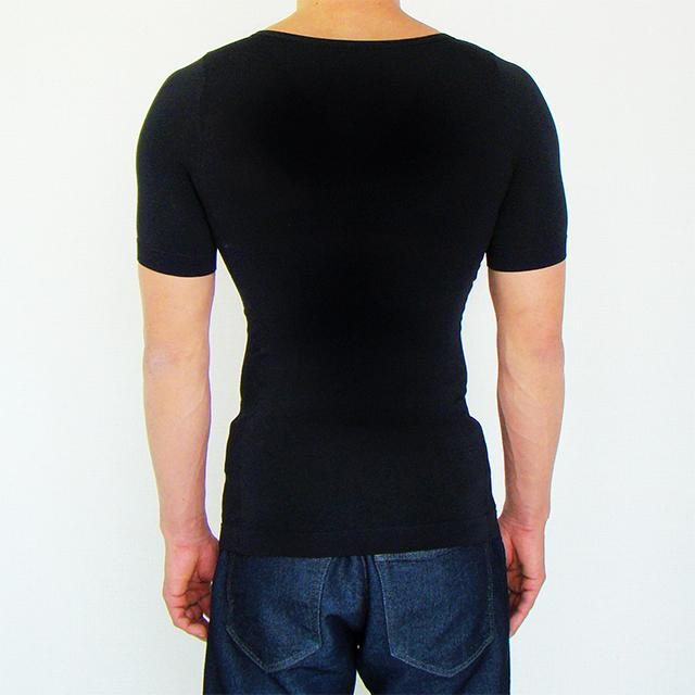 金剛筋シャツ黒の背面画像