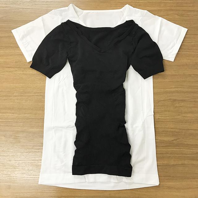 金剛筋シャツと普通のシャツのサイズ比較
