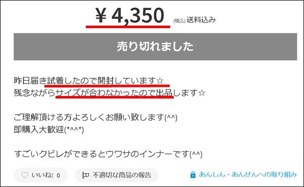 カーヴィーフィット4350円