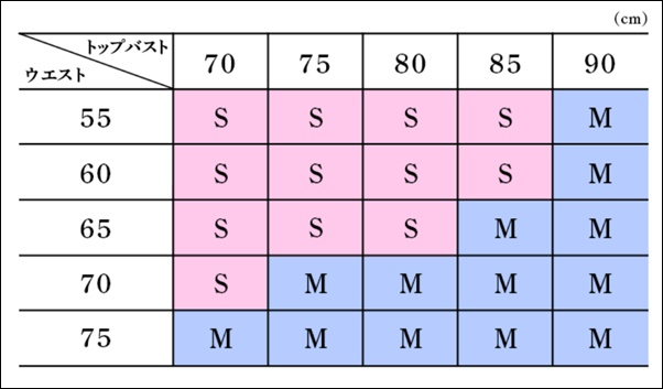 BE PRESSサイズ表